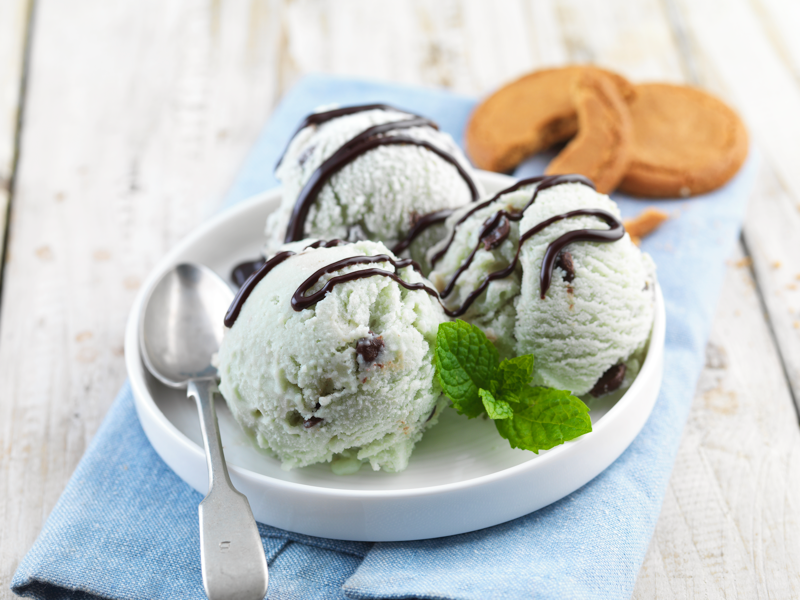 Mint Choc Chip Muscle Mousse Ice Cream
