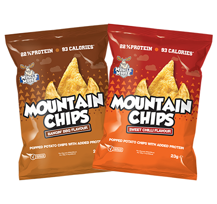 Muscle Moose Mountain Chips Bangin' BBQ & Sweet Chilli