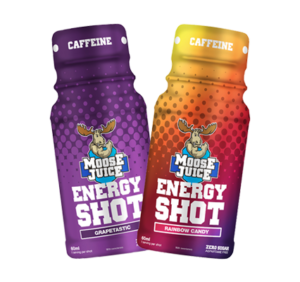 Moose Juice Energy Shot Mixed Box Grapetastic and Rainbow Candy