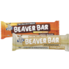 Single Choc Caramel Beaver Bar and single White Chocolate Beaver Bar.