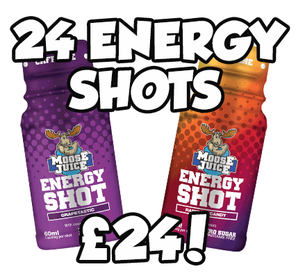 Moose Juice Energy Shots 24 Shots for £24!