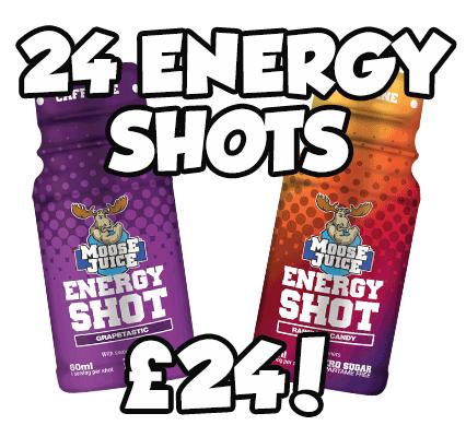 Moose Juice Energy Shots 24 Shots for £24!