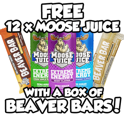 Buy a Box of Beaver Bars & Get a FREE Case of Moose Juice