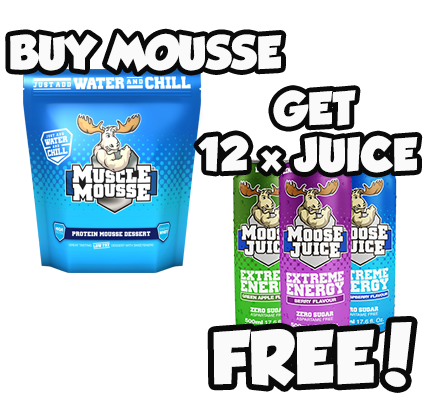 Buy a Bag of Muscle Mousse & Get a FREE Case of Moose Juice