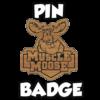 muscle moose bamboo pin badge icon