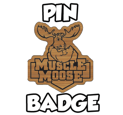 Muscle Moose Pin Badge