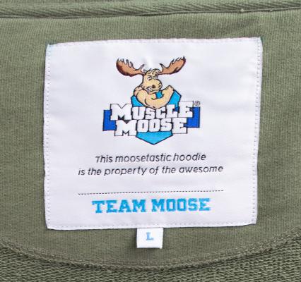 Muscle Moose Hoodie Label